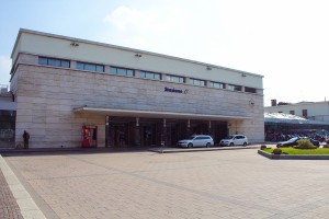 La facciata della Stazione ferroviaria di Asti