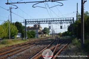 Il fascio dei binari della stazione ferroviaria di Cantalupo, oggi.
